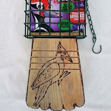 Handcrafted Woodpecker Suet Feeder