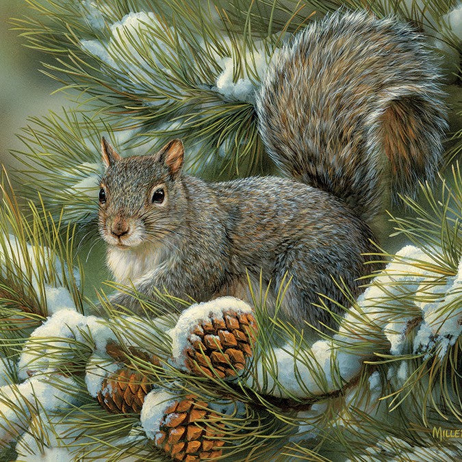 275 Piece Gray Squirrel Easy Handling Puzzle