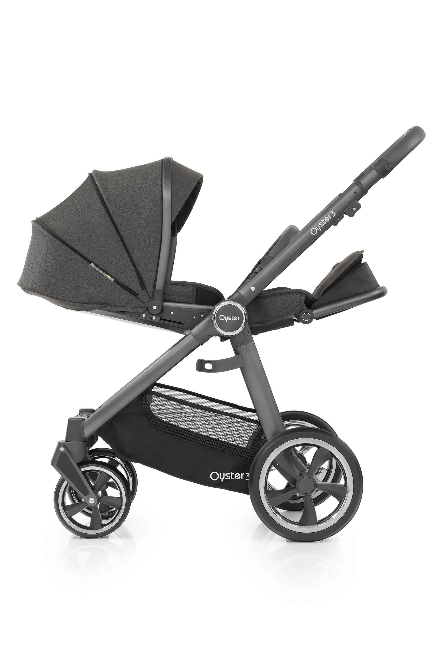 BabyStyle Oyster 3 Essential Bundle With Marble Car Seat and Base