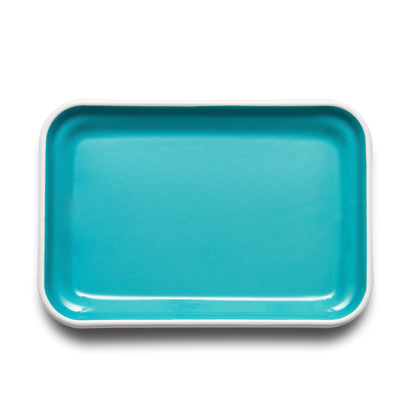 RECTANGULAR TRAY - Bloom Turquoise