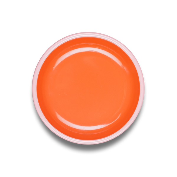 PLATE - coral with soft pink rim