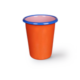 TUMBLER - coral and soft pink with electric blue rim