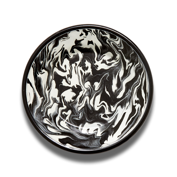 PLATE - Black and White Marble