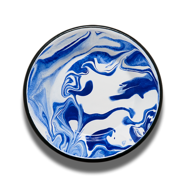 PLATE - Blue and White Marble