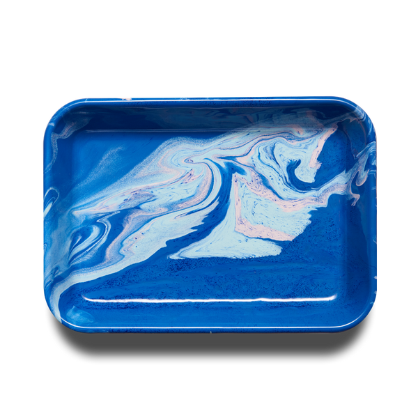 RECTANGULAR TRAY - Cobalt