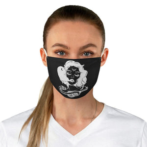 Witch Casting a Spell Fabric Face Mask - Crescent Chalice