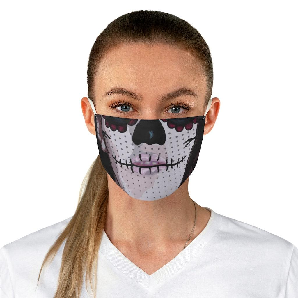 Sugar Skull Face Reusable Fabric Face Mask - Crescent Chalice