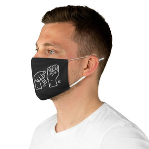 NOPE Sign Language Reusable Fabric Face Mask - Crescent Chalice