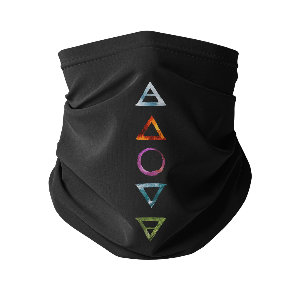 5 Elements Double Layer Neck Gaiter + Carbon Filter - Crescent Chalice