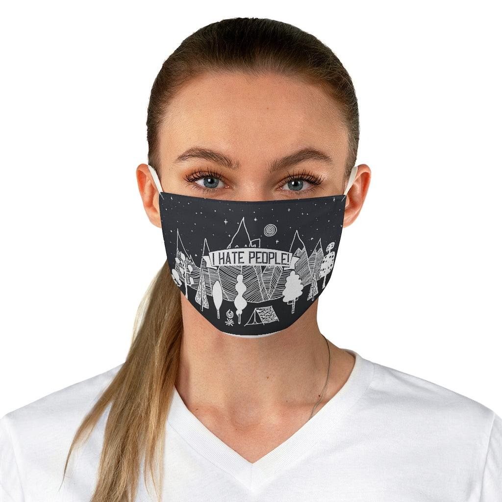 I Hate People Reusable Face Mask