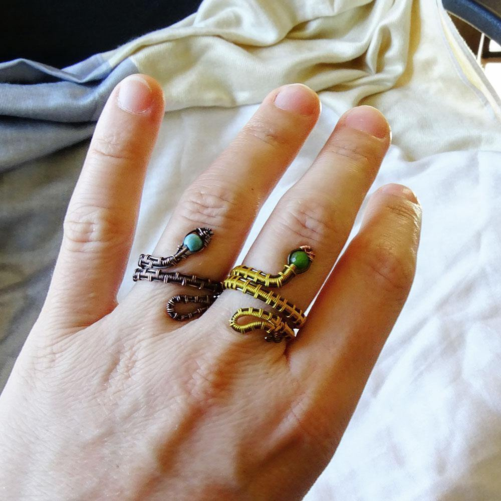 Adjustable Snake Ring - Crescent Chalice