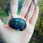 Tree of Life Labradorite Necklace - Crescent Chalice