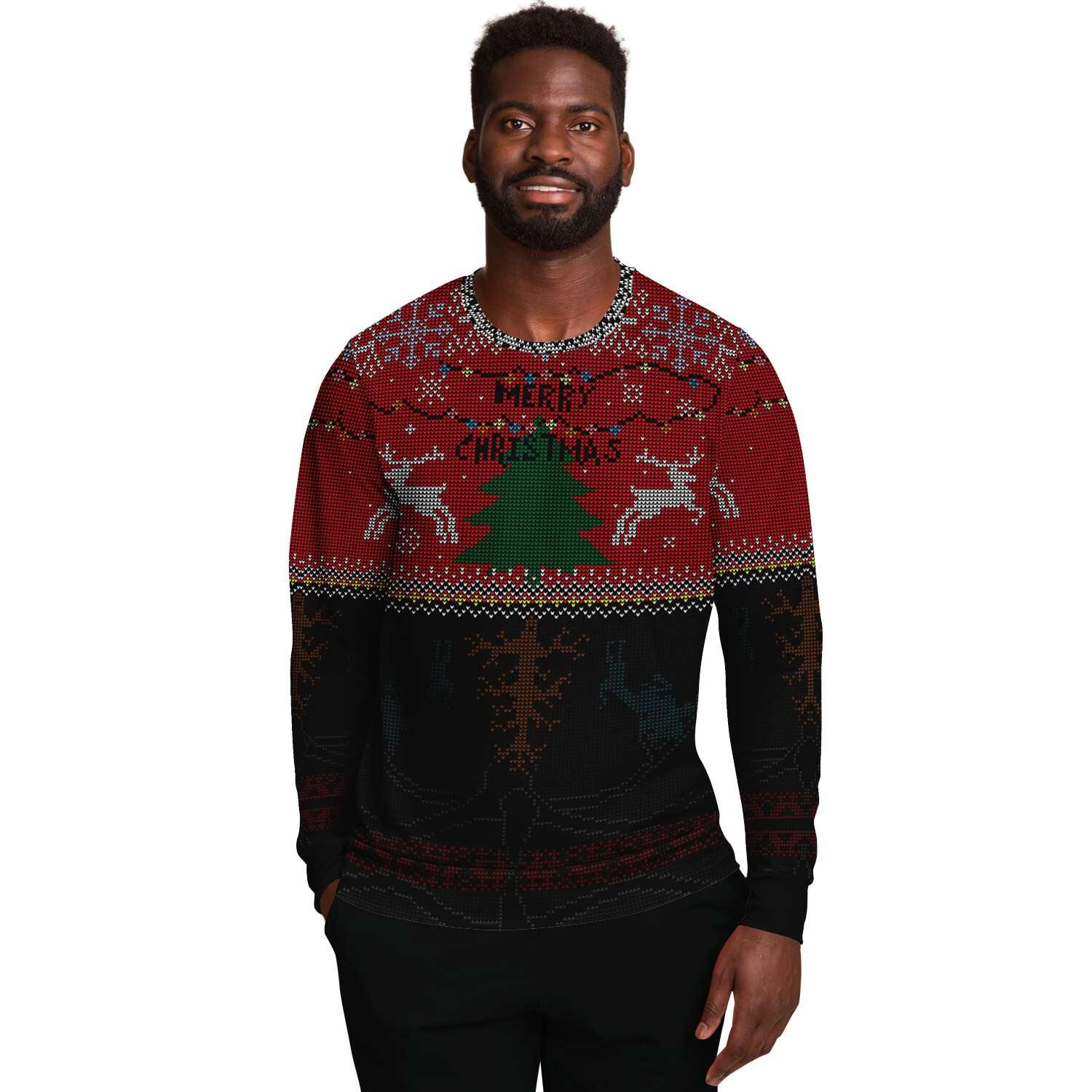 Upside Down Ugly Christmas Sweater - Crescent Chalice