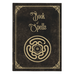 Book of Spells - Strophalos Hardcover Journal - Crescent Chalice