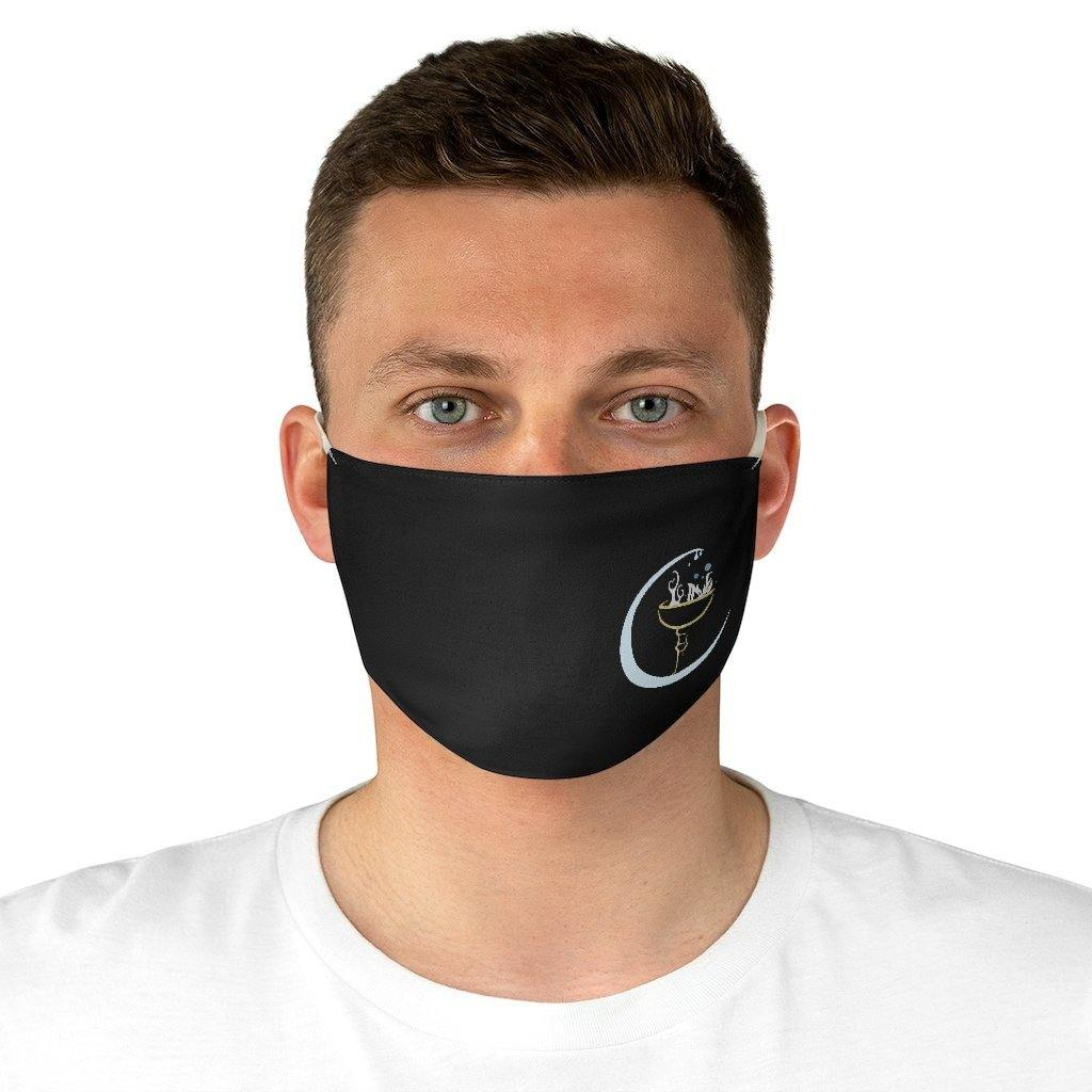 Crescent Moon and Chalice Fabric Face Mask - Crescent Chalice