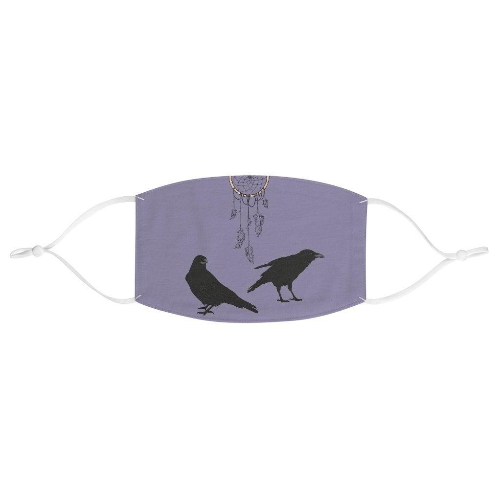 Crows and Dreamcatcher ReusableFabric Face Mask - Crescent Chalice