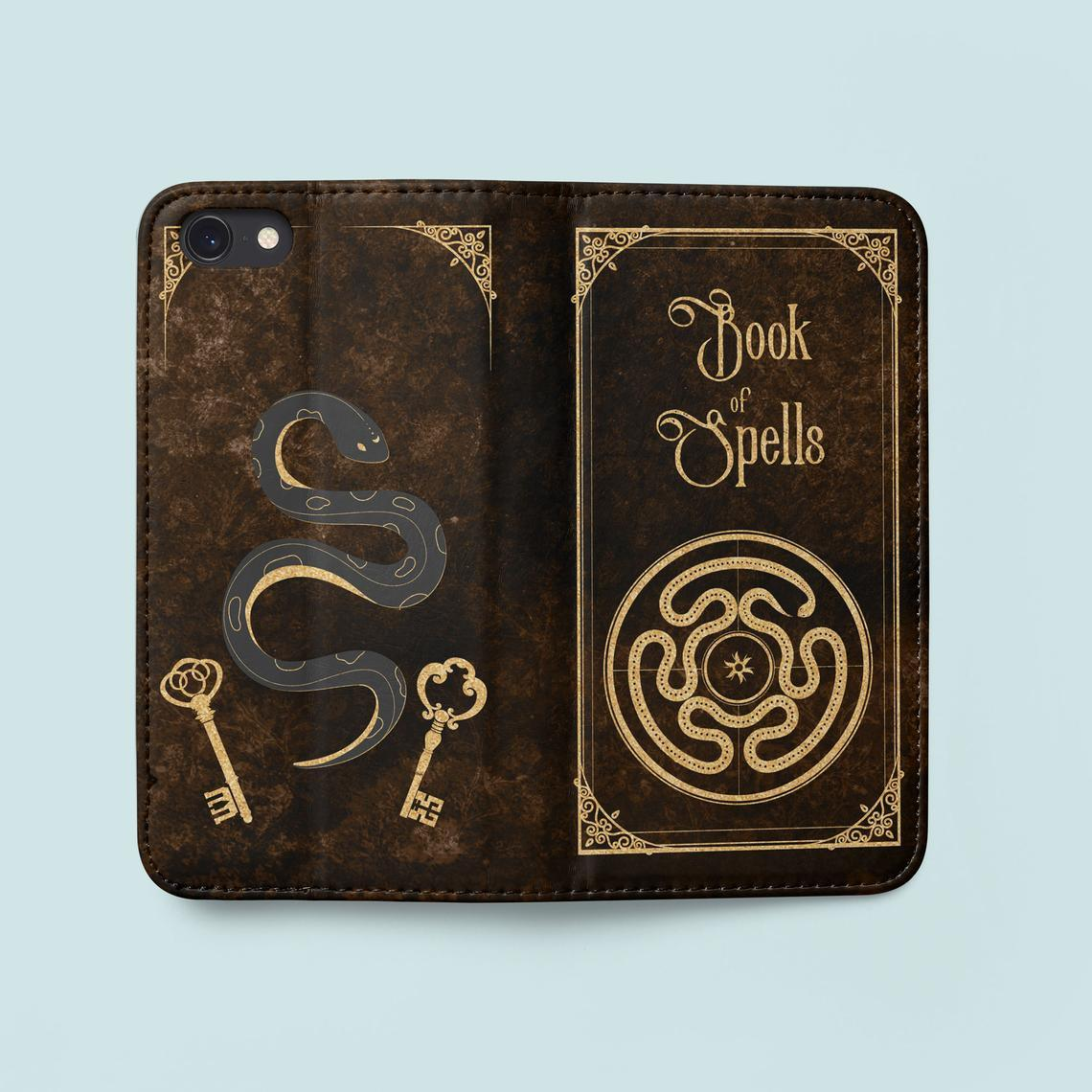Hekate Strophalos Spell Book Phone Case