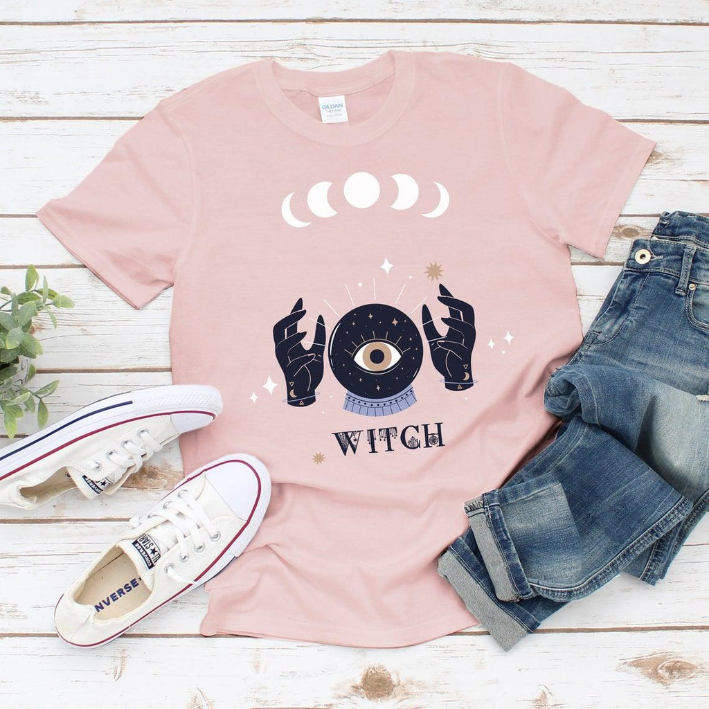 Witch and Moon Phases Unisex Tee