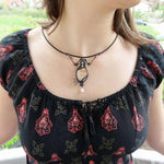 OOAK Victorian Wire Wrapped Necklace - Crescent Chalice