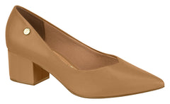 Camel Point Block Heel