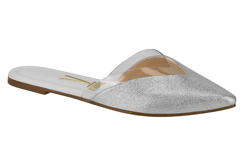 Silver Sandals with Plastic Detail