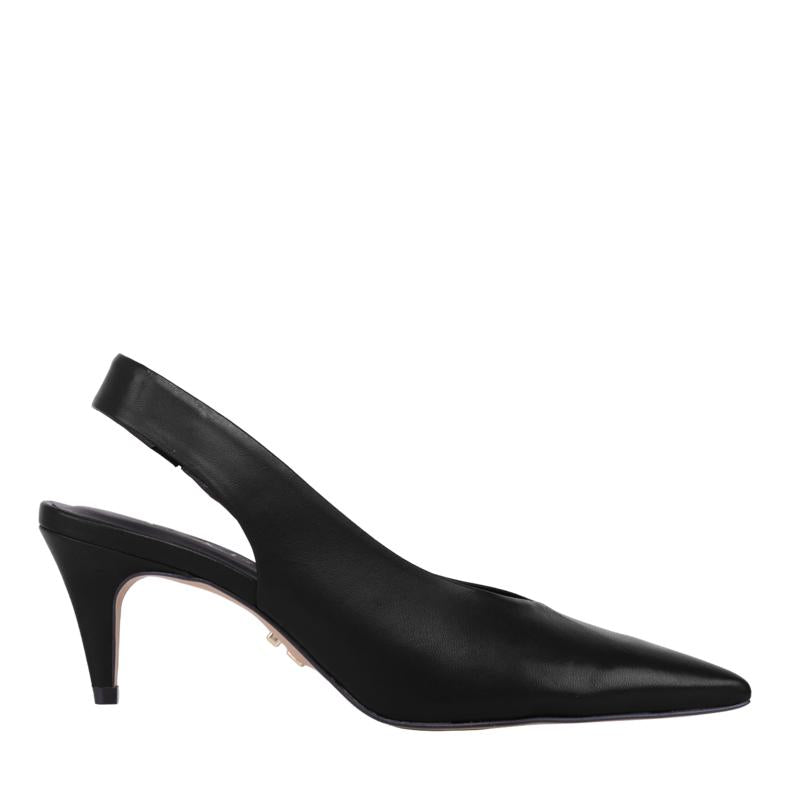 Black Slingback Pointed Heels