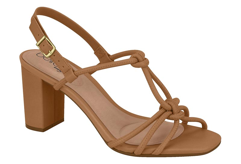 Tan Sandal Block Heels