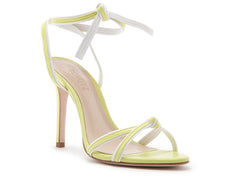 Yellow Ankle Strap Heels