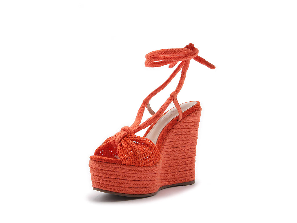 Peach Ribbed Wedges
