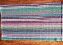 Load image into Gallery viewer, Tea Towel: Colourful Stripes (Multicoloured, Black)