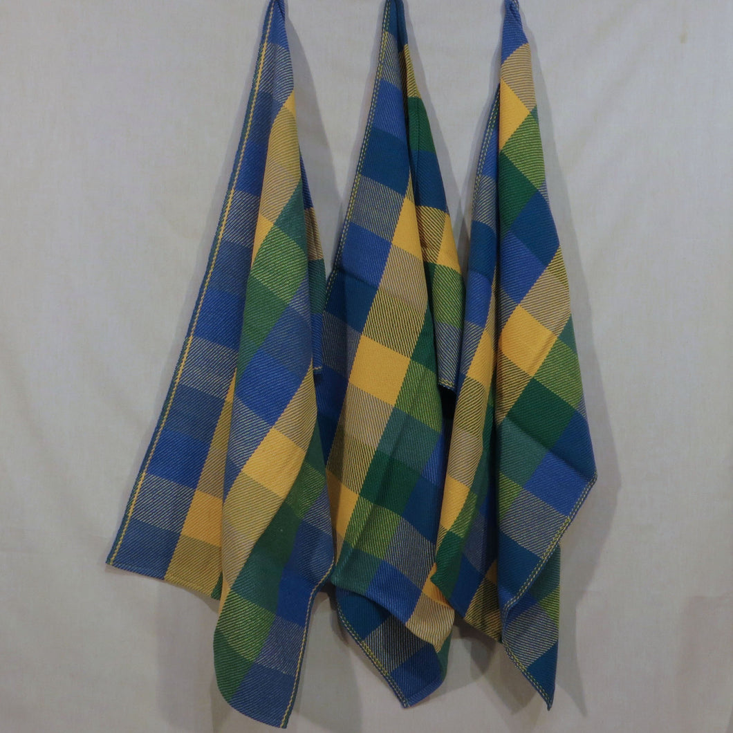 Towel: Tumbling Blocks (Blue, Yellow, Green)