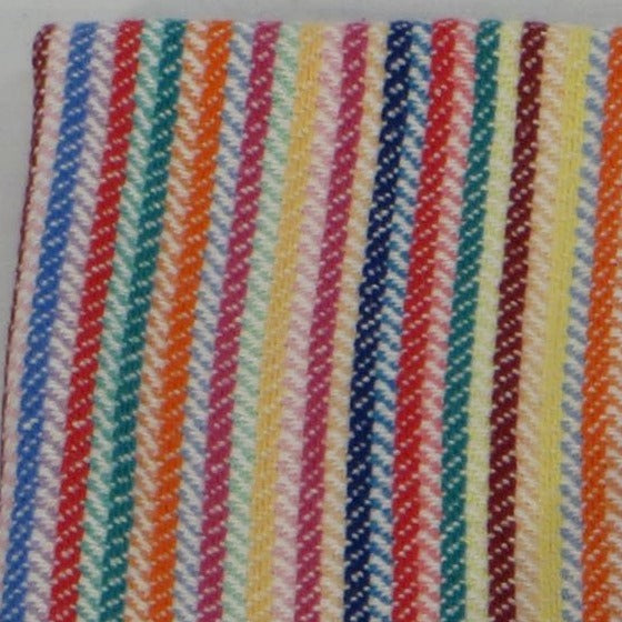 Tea Towel (Natural, Multicolour Stripes)