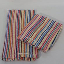 Load image into Gallery viewer, Tea Towel (Natural, Multicolour Stripes)