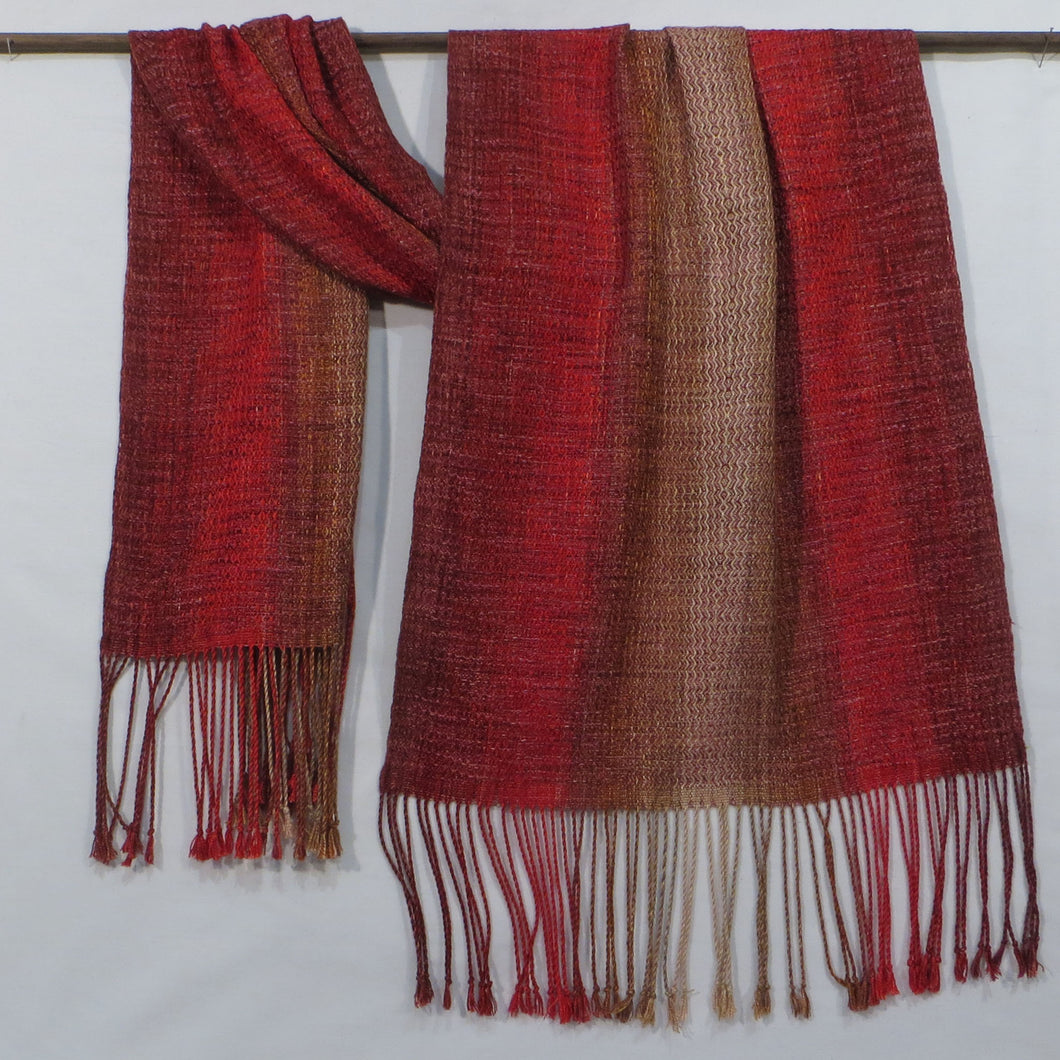 Shawl (Burgundy, Red, Rust, Gold)
