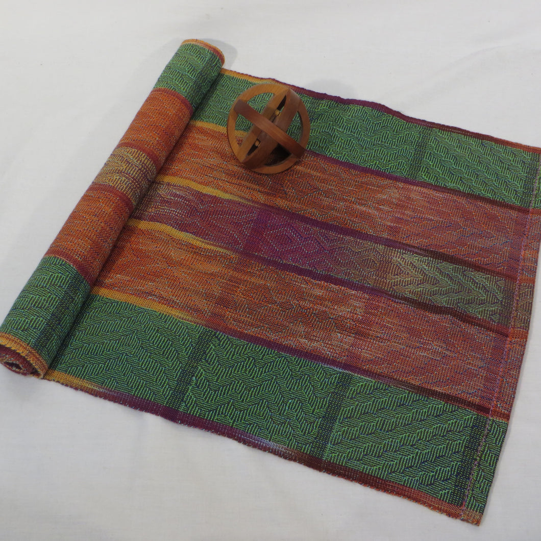 Table Runner (Green, Gold, Rust)