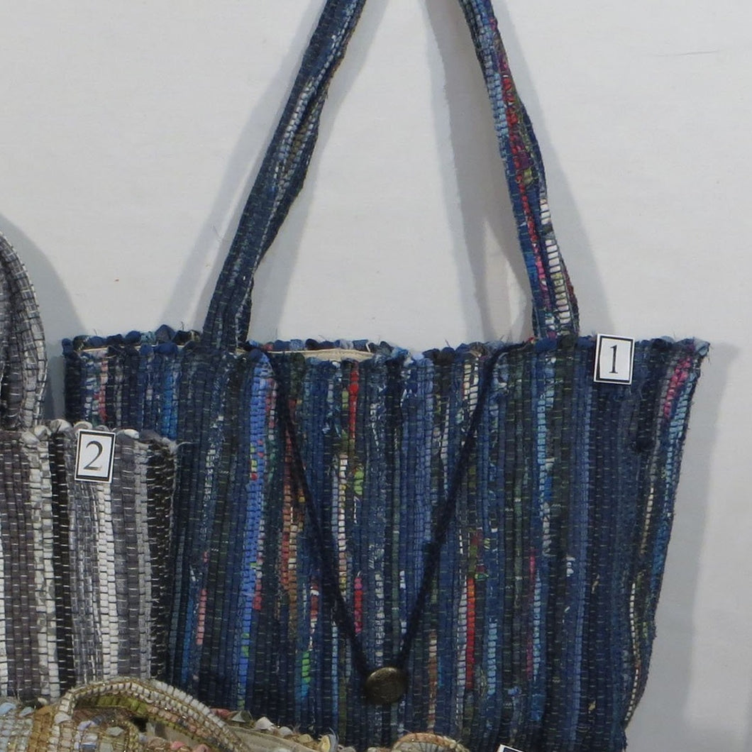 Tote Bag (Blue, Gray or Ivory)