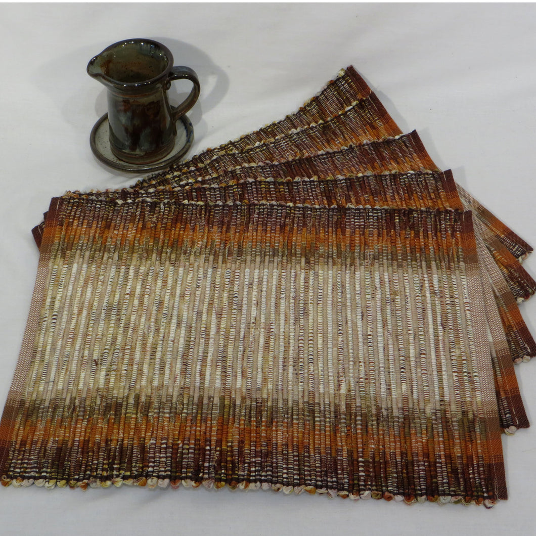 Placemats (Browns, Rust, Taupe, Beige) Set of 5