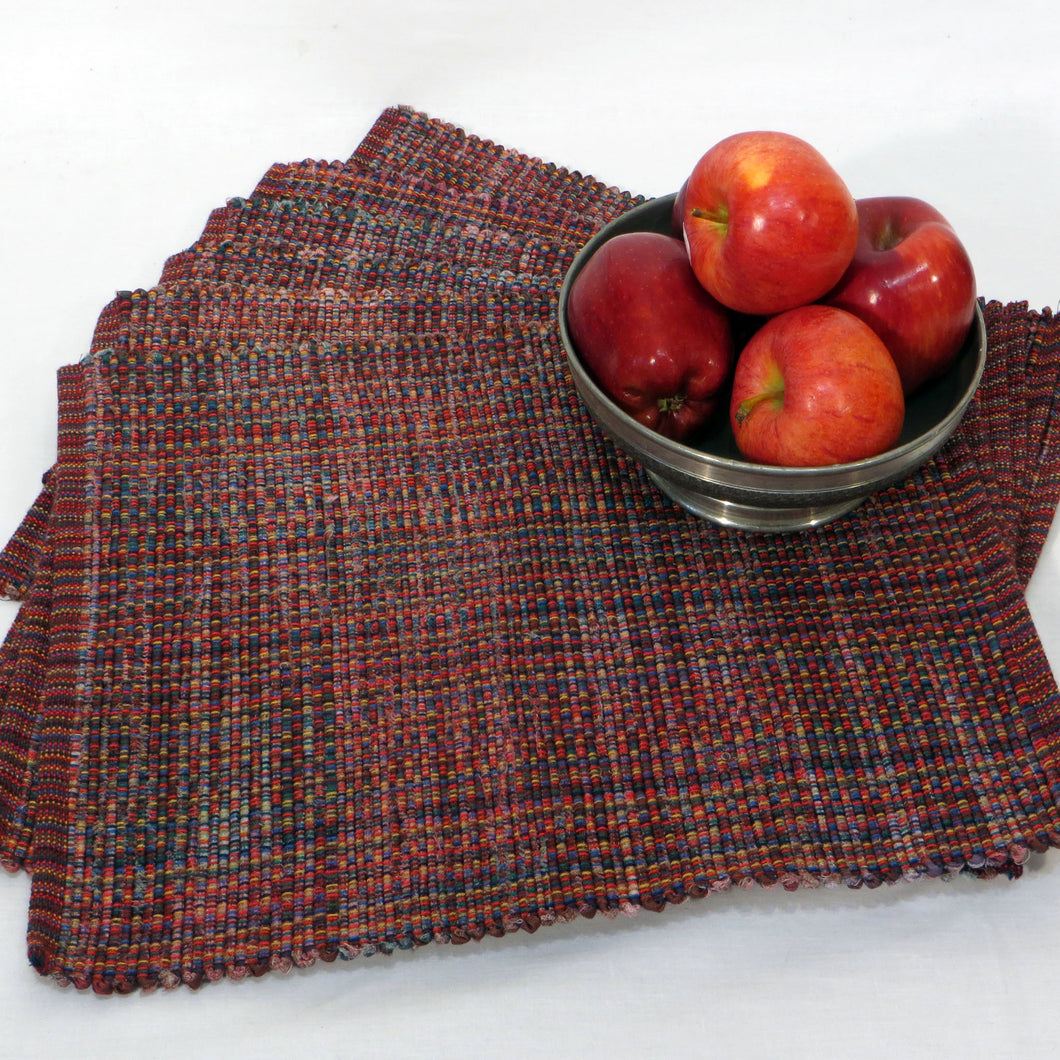 Placemats (Burgundy Multicolour) Set of 4