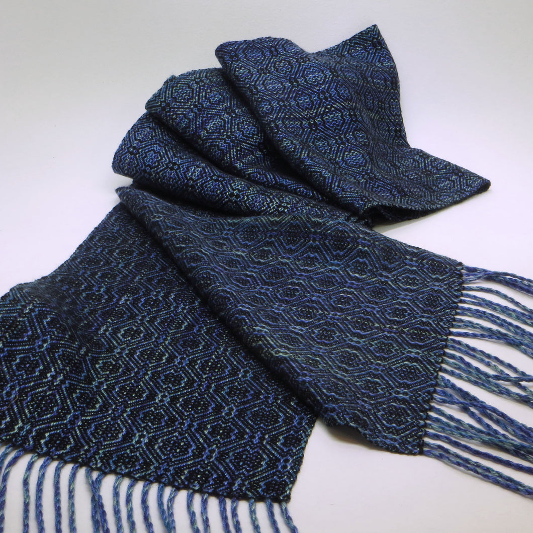Ladies' Scarf (Variegated Blue, Black)