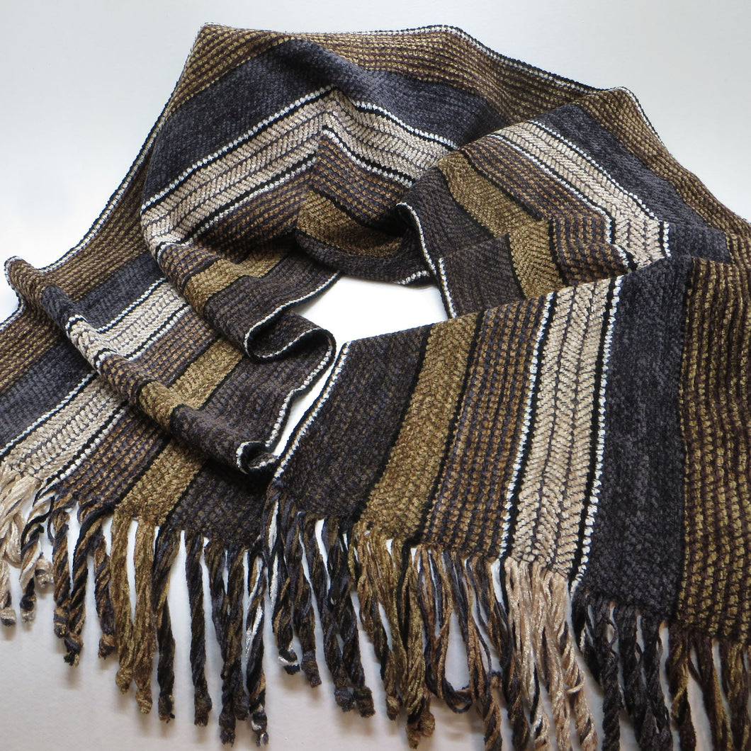 Scarf: (Charcoal, Brown, Camel)