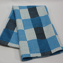 Load image into Gallery viewer, Halvdrall Towel: (Natural, Blue, Black)