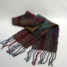 Load image into Gallery viewer, Warm Scarf (Burgundy, Green, Gold)