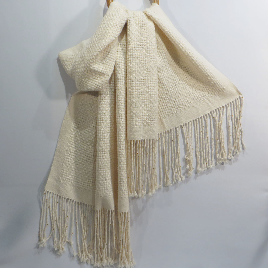 Lace Weave Shawl (Cream)