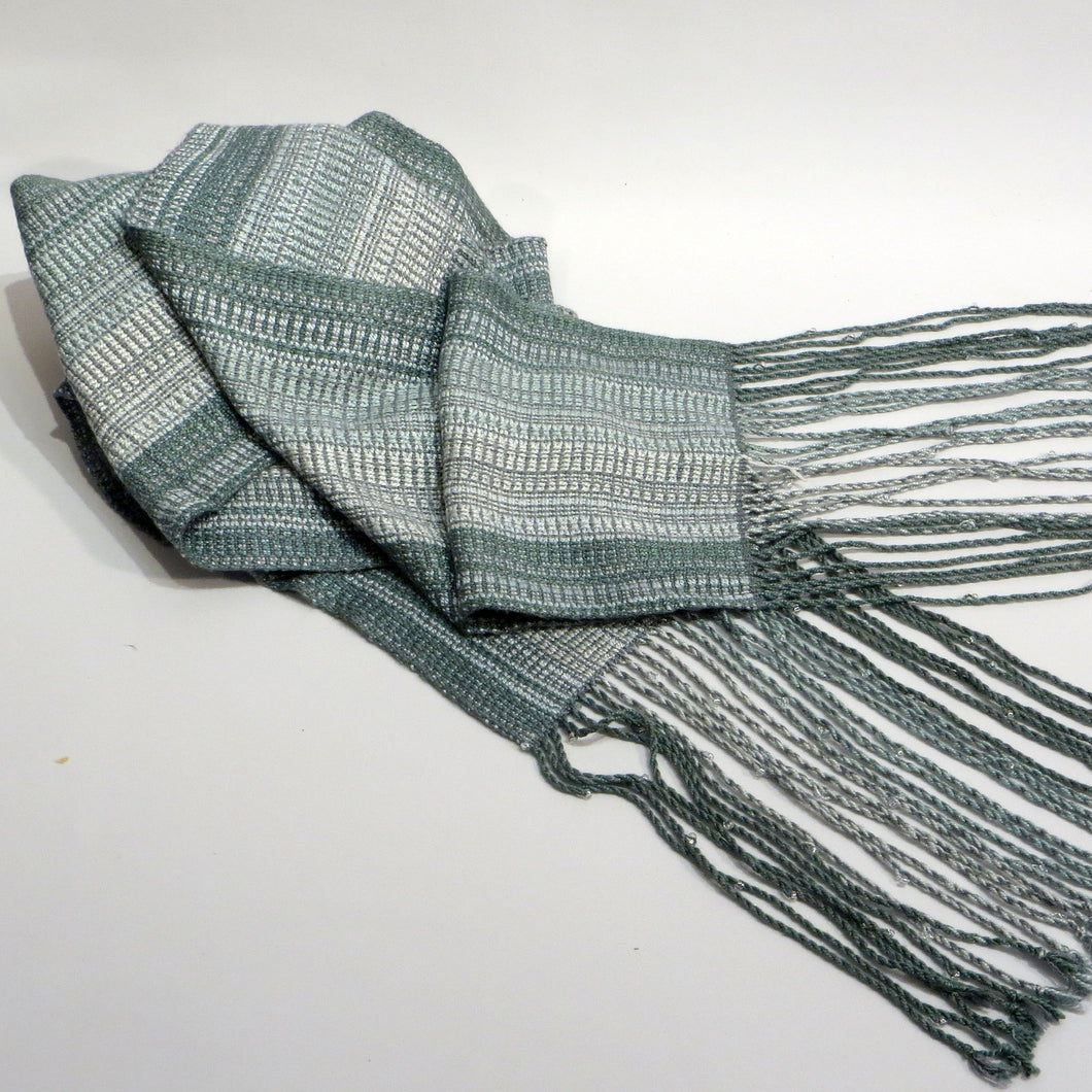 Scarf (Teal, Silver)