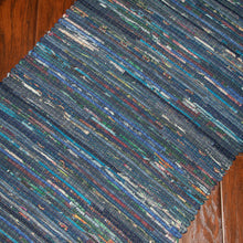 Load image into Gallery viewer, Upcycled Rug (Blue Medley)