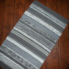 Load image into Gallery viewer, Up-cycled Rug (Grey, Black, White)