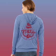 Load image into Gallery viewer, Pier 41 Unisex Anchor Blue Hoodie