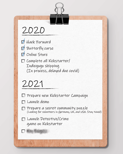 KEY ENIGMA goals for 2021 (Spoiler alert: New game!)