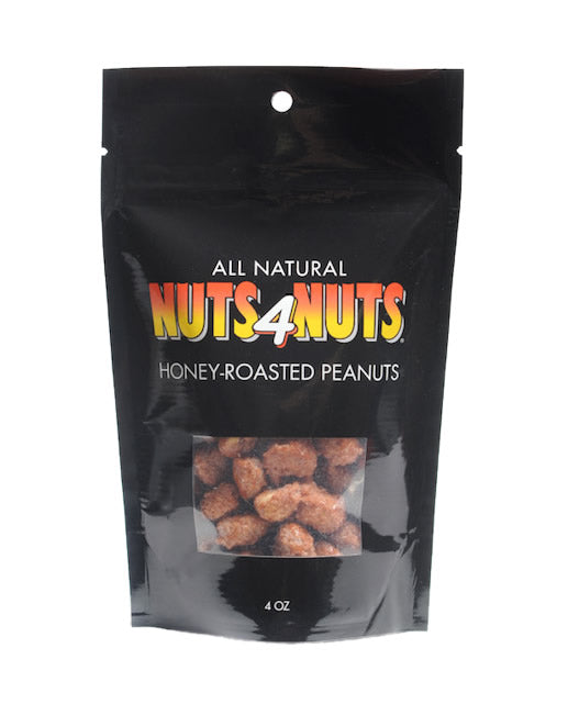 Honey-Roasted Peanuts in 4oz resealable pack
