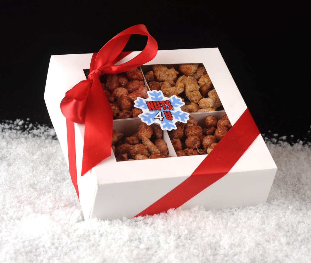 Nuts4Nuts 4 Compartment Holiday Gift Box